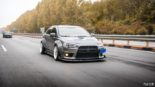 Mitsubishi Lancer Evo X widebody kit Liberty Walk Tuning 26 155x87 Mitsubishi Lancer Evo X with widebody kit from Liberty Walk