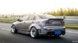 Mitsubishi Lancer Evo X widebody kit Liberty Walk Tuning 27 155x87 Mitsubishi Lancer Evo X with widebody kit from Liberty Walk