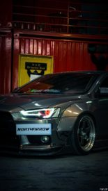 Mitsubishi Lancer Evo X widebody kit Liberty Walk Tuning 7 155x275 Mitsubishi Lancer Evo X with widebody kit from Liberty Walk
