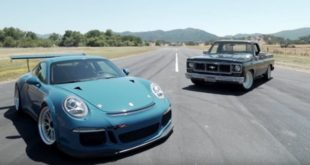 Porsche 911 GT3 vs. Chevrolet C10 mit LS3 V8 310x165 Video: Porsche 911 GT3 vs. Chevrolet C10 mit LS3 V8!