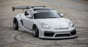Porsche Cayman 987 Pandem Widebody Forgestar F14 Tuning Head 310x165 Porsche Cayman 987 mit Pandem Widebody Kit auf Forgestar M14 Felgen.