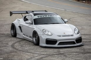 Porsche Cayman 987 Pandem Widebody Forgestar F14 Tuning Head 310x205 Porsche Cayman 987 mit Pandem Widebody Kit auf Forgestar M14 Felgen.