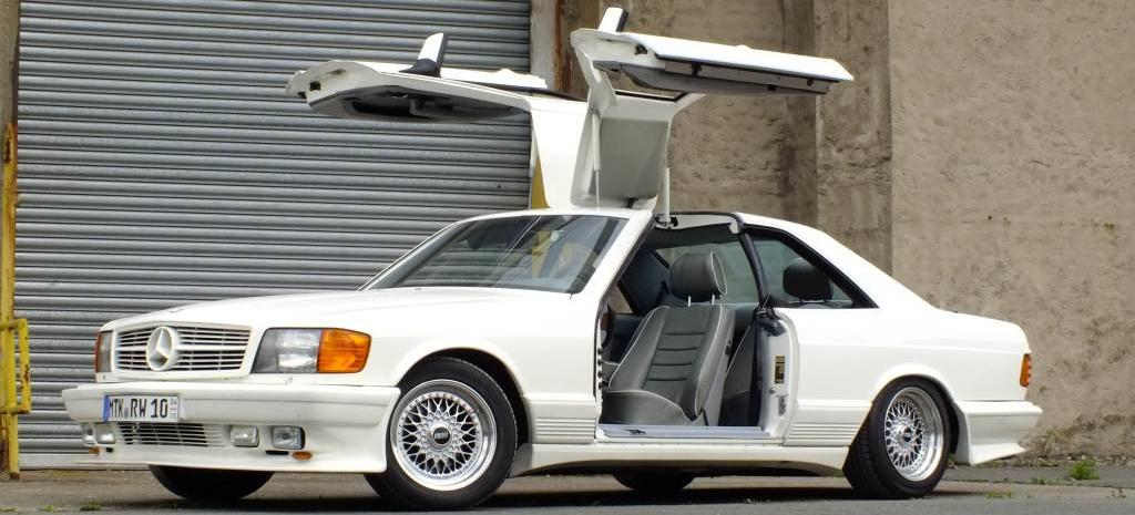 SGS Gullwing Mercedes 500 SEC Tuning Was sind sogenannte Gullwing Türen? Kann man sie nachrüsten?