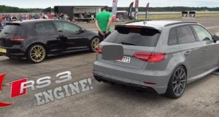 VW Golf R with 600 PS RS3 five-cylinder on the drag 310x165 Video: VW Golf R with 600 PS RS3 five-cylinder on the drag!