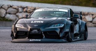 Widebody Kit Liberty Walk Toyota Supra A90 Tuning Header 310x165 Mitsubishi Lancer Evo X with Widebody Kit from Liberty Walk