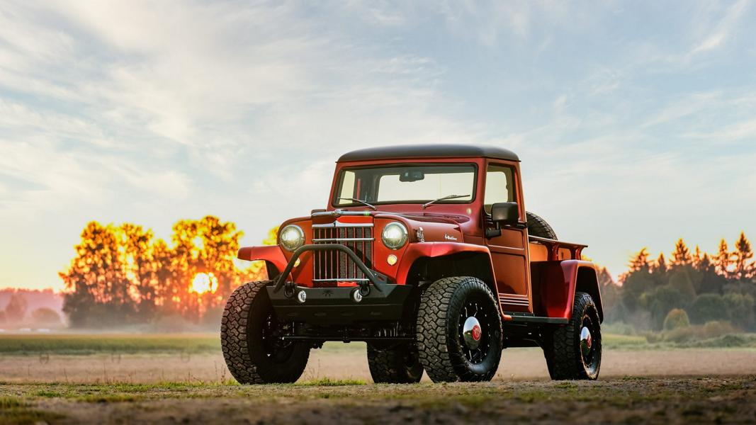 1955 Jeep Willys Pickup With 2014 Wrangler Technology