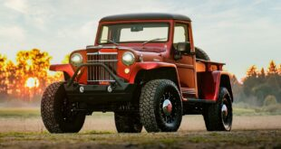 1955 Jeep Willys Pickup 2014 Wrangler Technik Restomod Tuning Header 310x165 1955er Jeep Willys Pickup mit 2014er Wrangler Technik!