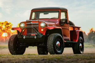 1955 Jeep Willys Pickup 2014 Wrangler Technik Restomod Tuning Header 310x205 1955er Jeep Willys Pickup mit 2014er Wrangler Technik!