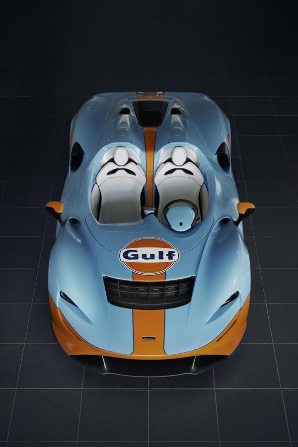2020 McLaren Elva Gulf Theme MSO Tuning 4 Irres Teil   der 2020 McLaren Elva Gulf Theme von MSO