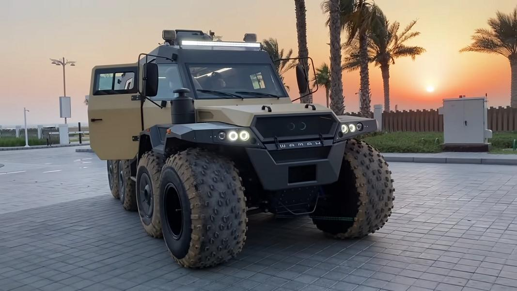 8x8 Floating Monster Truck Spotted in Dubai 2 23 screenshot Video: Schwimmender Avtoros Shaman 8x8 im Test!