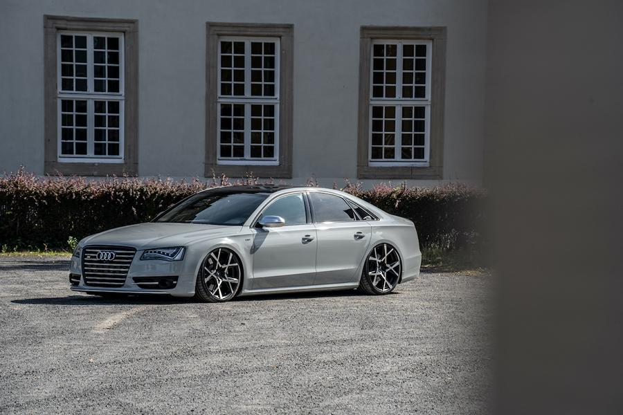 Audi S8 4H Tuning Project X Felgen JMS Barracuda 2 Ultraschick und ultratief   Audi S8 auf Project X Felgen!