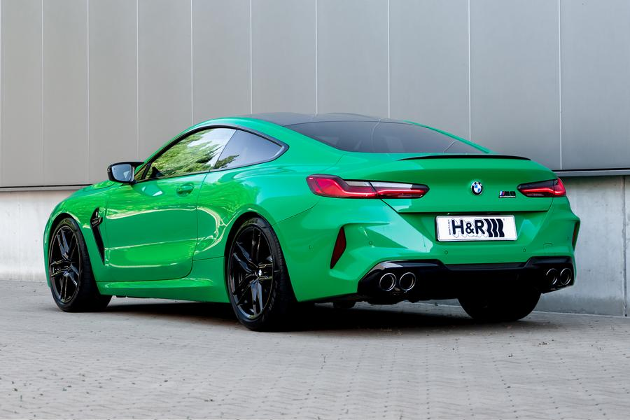 BMW M8 Competition Coupe Sportfedern Heck The green machine: H&R Sportfedern für BMW M8 Coupe