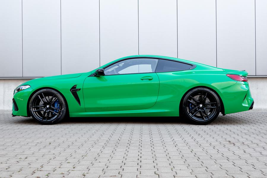BMW M8 Competition Coupe Sportfedern Seite The green machine: H&R Sportfedern für BMW M8 Coupe