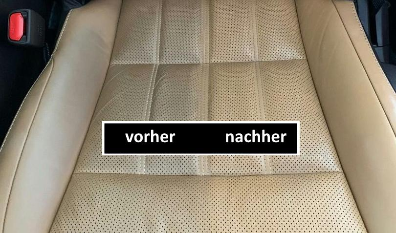 Color Freshener Leather Interior Car Cleaning 4 Maintain the leather interior with a color freshener!