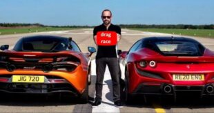 Ferrari F8 Tributo vs. McLaren 720S 310x165 Video: 720 HP Ferrari 488 Pista vs. 800 HP BMW M5 F90!