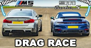 Porsche 911 Turbo S vs. 1.000 PS BMW M5 F90 310x165 Video: Porsche 911 Turbo S vs. 1.000 PS BMW M5 F90!