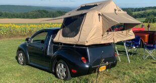 VW Beetle Pickup Camper Truck 6 310x165 Camping with a difference with the VW Beetle Pickup Truck!