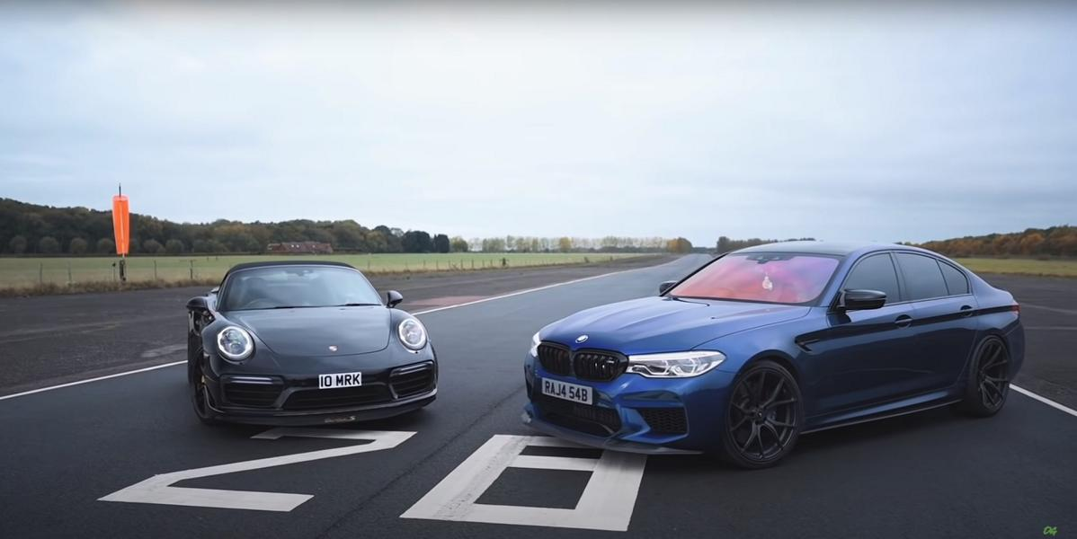 800 PS BMW M5 F90 vs. 750 PS Porsche 991.2 Turbo S Video: 800 PS BMW M5 F90 vs. 750 PS Porsche 991.2 Turbo S