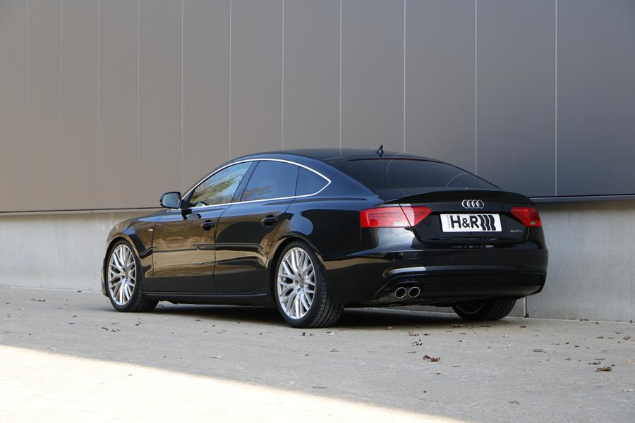 A5 Sportback B8 4WD without DCC rear HVF 2 Fine-tuning with depth: H&R coil springs for Audi A5 / S5 / RS5