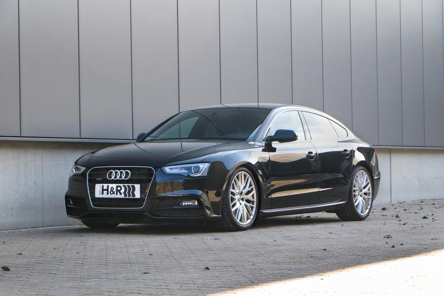 A5 Sportback B8 4WD without DCC front HVF 1 Fine tuning with depth: H&R coil springs for Audi A5 / S5 / RS5