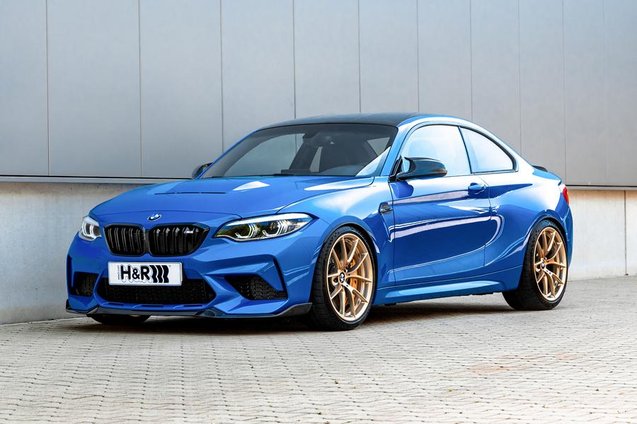 BMW M2 CS coil springs front The full range: H&R suspension components for the BMW M2 CS