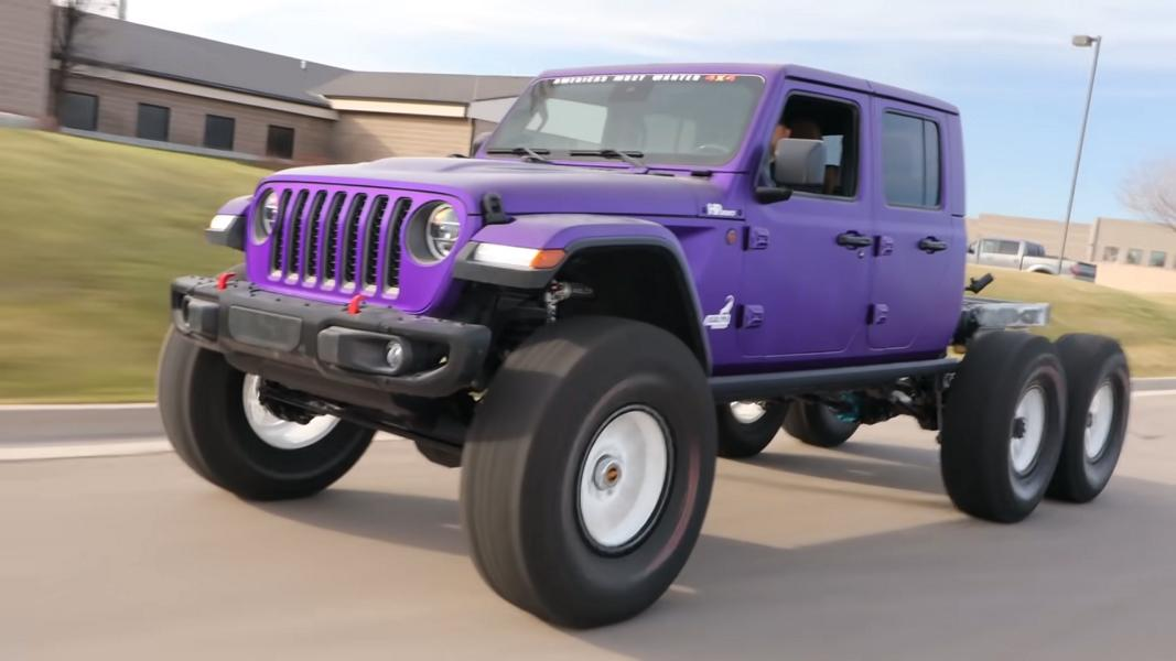 Video Jeep Gladiator Hellesaurus 6x6 Conversion For Test Drive