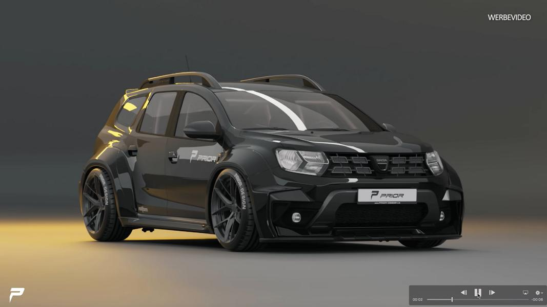 Prior Design Widebody Kit 2020 Dacia Duster SUV 10 Staggered Wheels Felgen: Was sind das für Felgen?