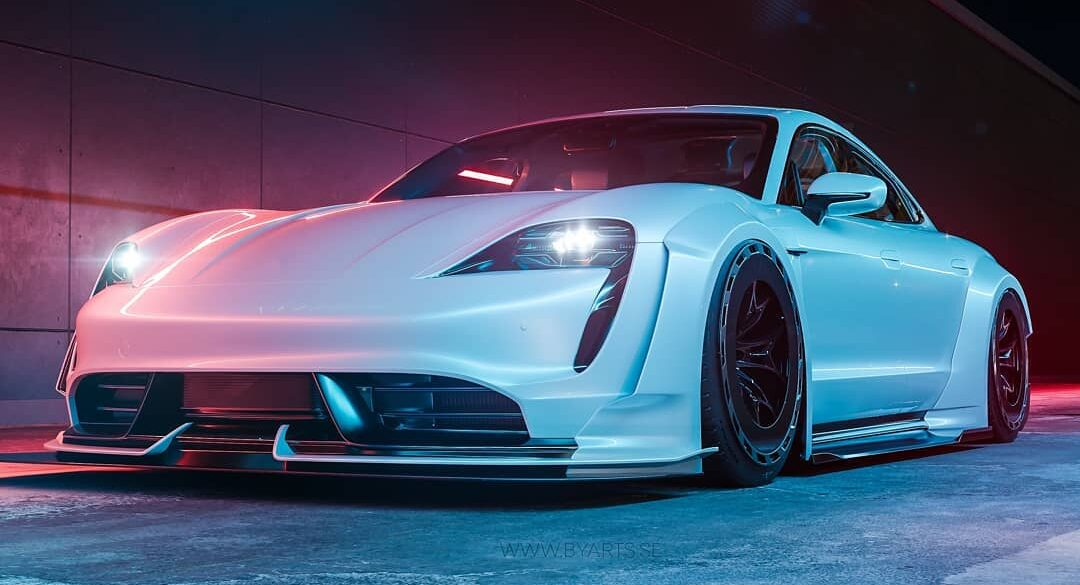 Widebody Porsche Taycan White Sensation Rendering 1 copy e1604304513659 The best tuning games for PC, console & Co.
