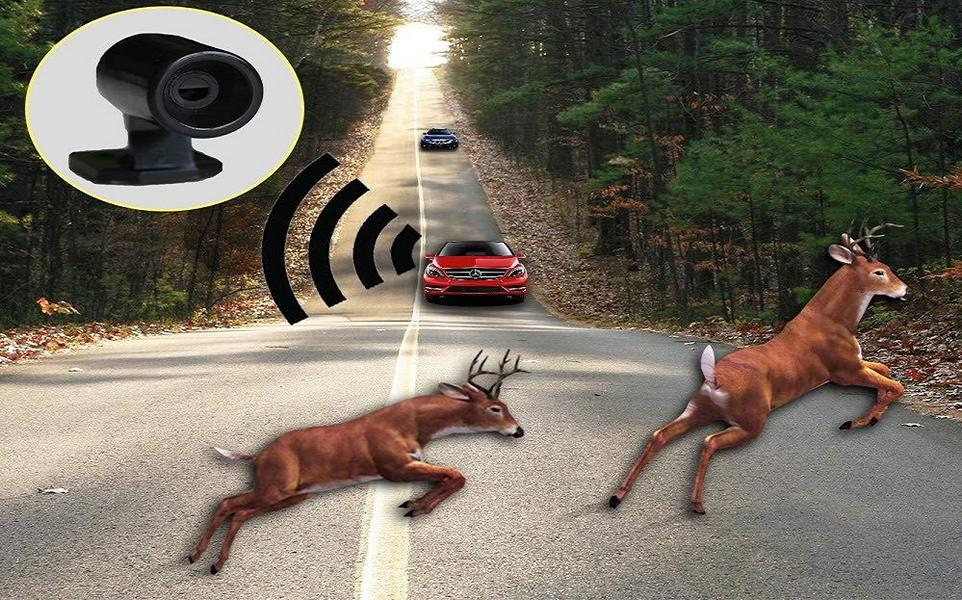 Wildlife warning high-frequency warning ultrasonic car car 2 Do you use acoustic game warning to prevent accidents with wild animals?
