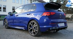 Akrapovic sports exhaust on the 2022 VW Golf R 310x165 Tip: These are popular tuning cars for beginners!