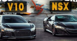 Audi R8 V10 Plus Drag Race gegen Acura NSX 310x165 Video: Audi R8 V10 Plus Drag Race gegen Acura NSX!
