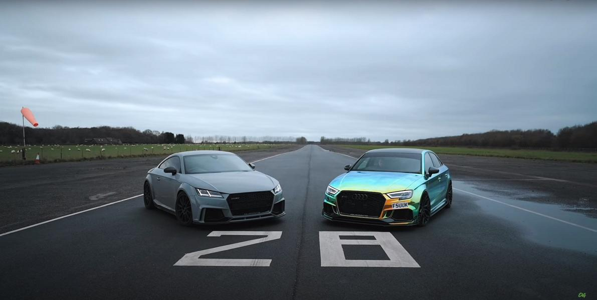 Audi RS3 vs. 620 PS Audi TT RS Video: Drag Race   685 PS Audi RS3 vs. 620 PS Audi TT RS!