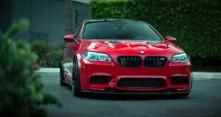 BMW M5 F10 Tuning Header 310x165 Red BMW M5 (F10) with extensive modifications!