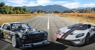 Ford GT Carbon Edition vs. Hoonicorn Mustang AWD 310x165 Video: Ford GT Carbon Edition vs. Hoonicorn Mustang AWD!