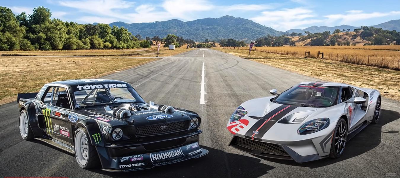 Ford GT Carbon Edition vs. Hoonicorn Mustang AWD Video: Ford GT Carbon Edition vs. Hoonicorn Mustang AWD!