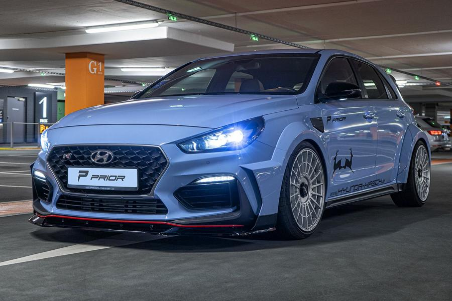 PDN30X Ultra Widebody Kit Prior Design Hyundai I30N 9 Fertig: Hyundai i30N Widebody vom Tuner Prior Design!