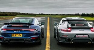 Porsche 911 Turbo S 992 vs. GT2 RS 991 310x165 Video: Drag race Porsche 911 Turbo S (992) vs. GT2 RS (991)
