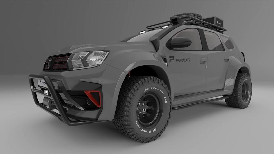 Prior Design Dacia Duster 4x4 Offroad Widebody 2021 1 Erst tief, jetzt hoch! Widebody Dacia Duster by Prior Design!