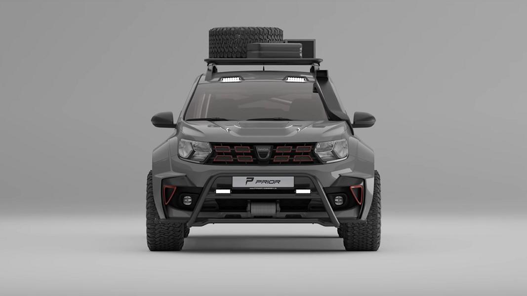 Prior Design Dacia Duster 4x4 Offroad Widebody 2021 12 Erst tief, jetzt hoch! Widebody Dacia Duster by Prior Design!