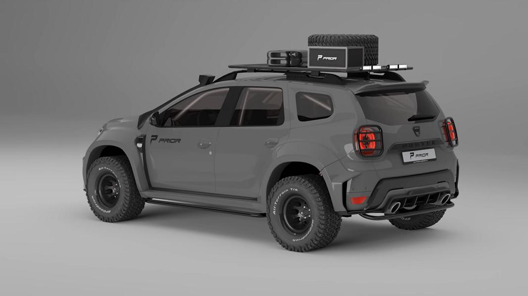 Prior Design Dacia Duster 4x4 Offroad Widebody 2021 3 Erst tief, jetzt hoch! Widebody Dacia Duster by Prior Design!