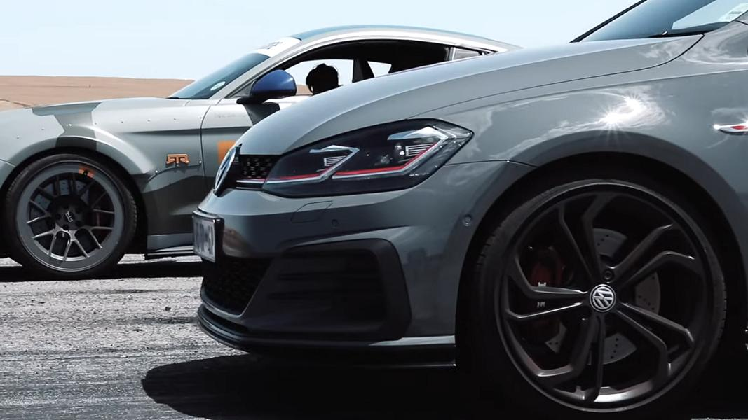 RTR Ford Mustang Spitfire vs. VW Golf GTI TCR 1 Video: RTR Ford Mustang Spitfire vs. VW Golf GTI TCR!