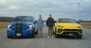 Shelby F 150 Super Snake vs. Lamborghini Urus 310x165 Video: Shelby Ford F 150 Super Snake vs. Lamborghini Urus!