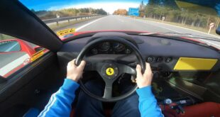 Straight Piped Ferrari F40 Autobahn Tuning 310x165 Video: Porsche Panamericana   coole Studie aus 1989!
