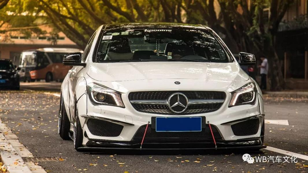 Widebody CLA Mercedes Tuning 3 Benz with addiction factor Widebody CLA from Guangzhou Kocaine!