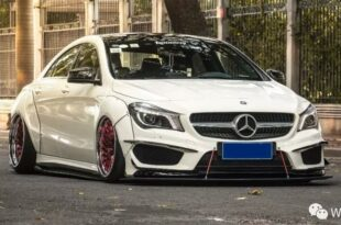 Widebody CLA Mercedes Tuning Header 310x205 Benz with addiction factor Widebody CLA from Guangzhou Kocaine!