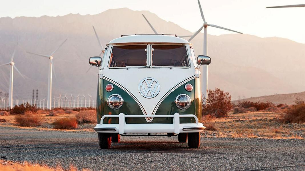 Zelectric Motors 1966 VW Bus Omaze E drive 8 Zelectric Motors 1966 VW Bus will be raffled by Omaze!
