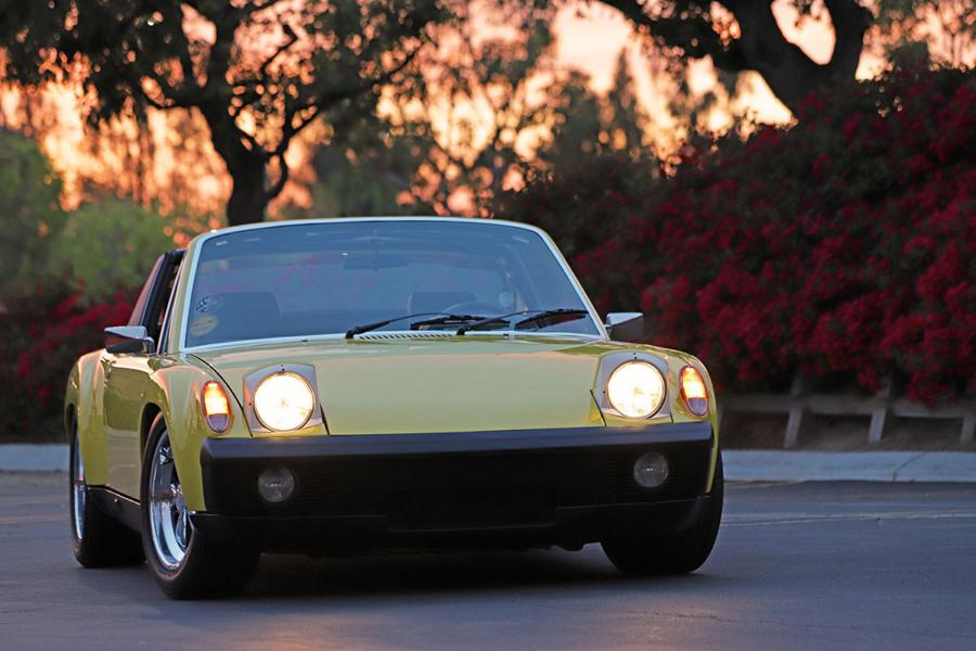 1970 Porsche 9146 Restomod lemon yellow widebody 1 1970 Porsche 914/6 Restomod in lemon yellow with 270 PS!