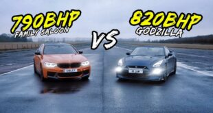 790 PS BMW M5 F90 vs. 820 PS Nissan GT R 310x165 Video: 790 PS BMW M5 F90 vs. 820 PS Nissan GT R!