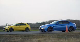 AMG A45 S v Alfa Romeo Giulia QV DRAG RACE 0 10 screenshot 310x165 Video: BMW 340i Drag Race vs. M5 Performance (F90)!