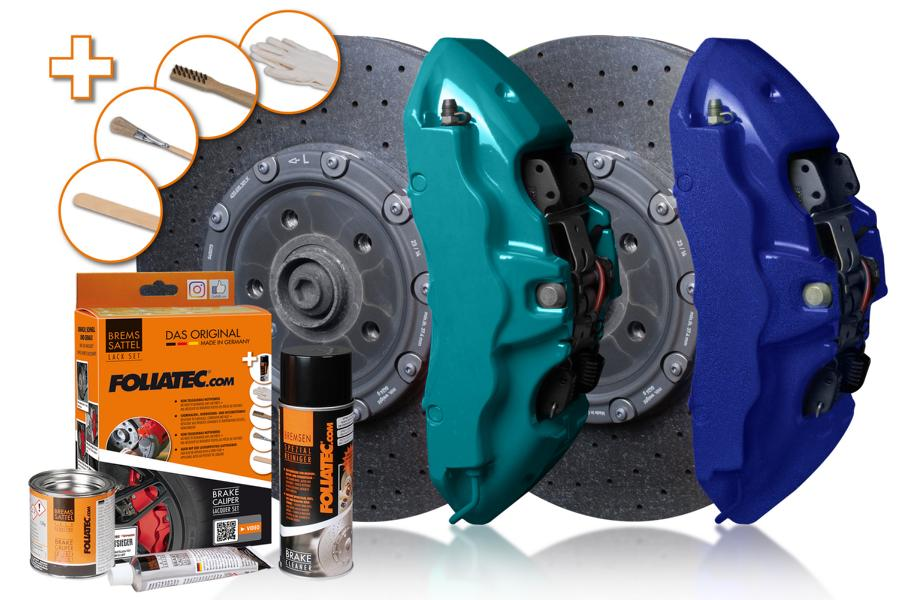 FOLIATEC 2155 2196 brake caliper paint set new colors FOLIATEC brake caliper paint in miami beach blue / performance blue metallic